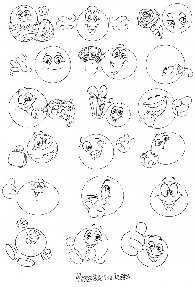 Coloriage et dessins gratuits Smiley et Expressions à imprimer