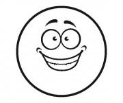Coloriage Smiley heureux