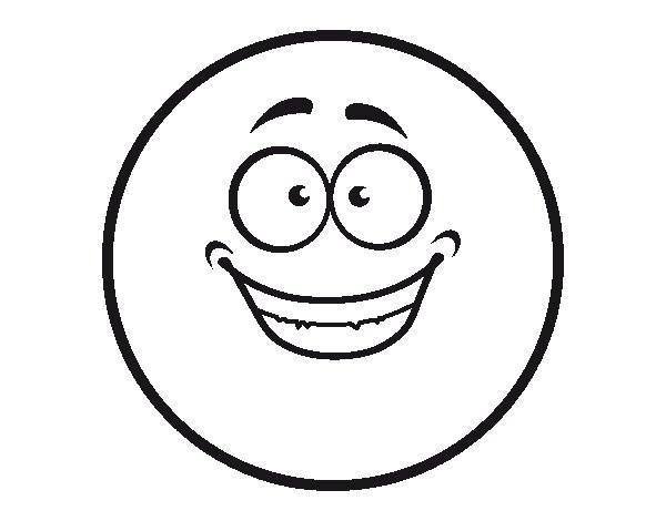 Coloriage et dessins gratuits Smiley heureux à imprimer
