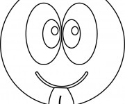 Coloriage Smiley Insolent