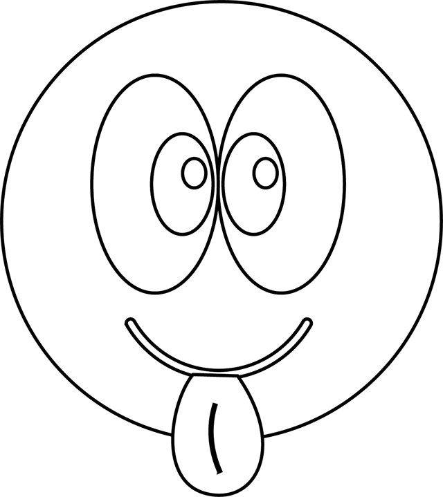 Coloriage Smiley Insolent Dessin Gratuit à Imprimer