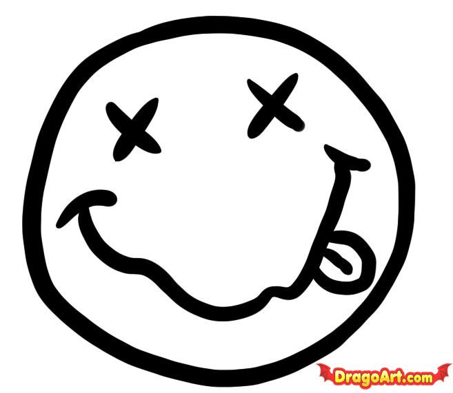 Coloriage et dessins gratuits Smiley Insolent vecteur à imprimer