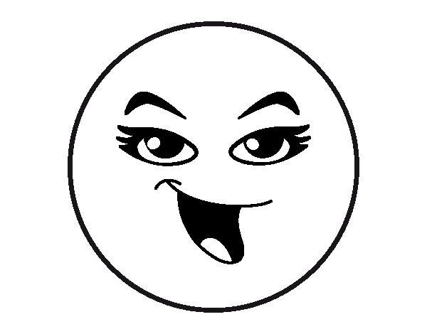 Coloriage et dessins gratuits Smiley Maquillage princesse à imprimer