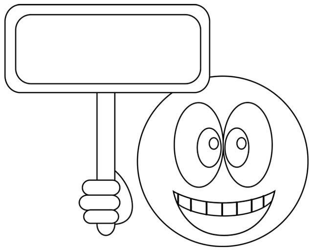 Coloriage et dessins gratuits Smiley maternelle à imprimer