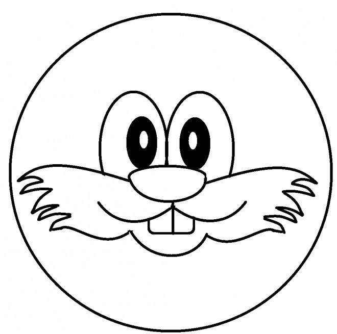 Coloriage et dessins gratuits Smiley Movember à imprimer