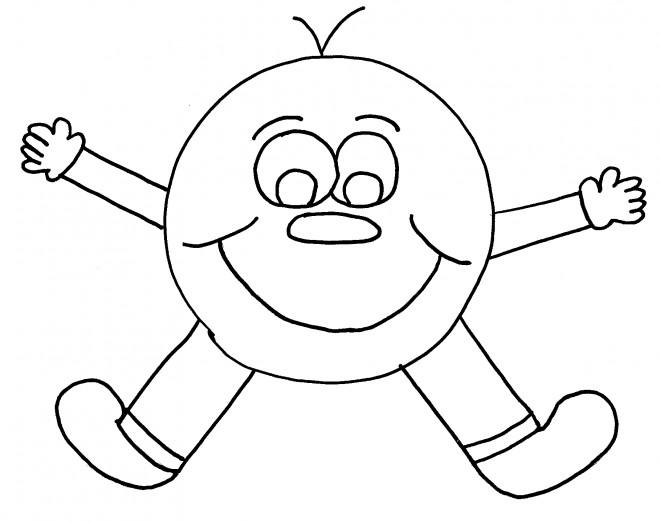 Coloriage et dessins gratuits Smiley personnalisé à imprimer