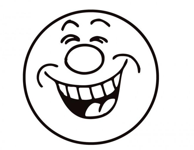 Coloriage et dessins gratuits Smiley rigole à imprimer