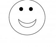 Coloriage Smiley rigolo maternelle