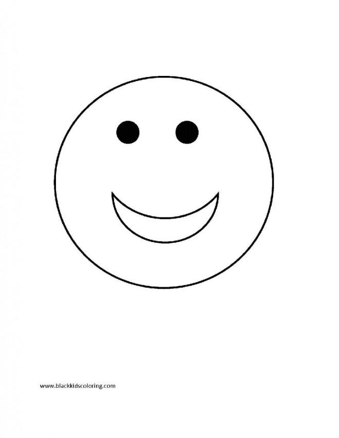 Coloriage et dessins gratuits Smiley rigolo maternelle à imprimer