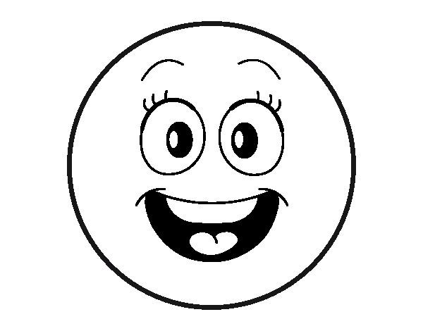 Coloriage et dessins gratuits Smiley rigolote à imprimer