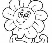 Coloriage Smiley Rose