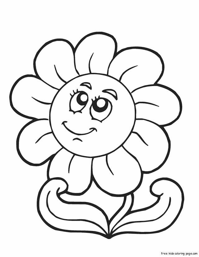 Coloriage et dessins gratuits Smiley Rose à imprimer