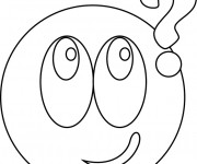 Coloriage Smiley se demande