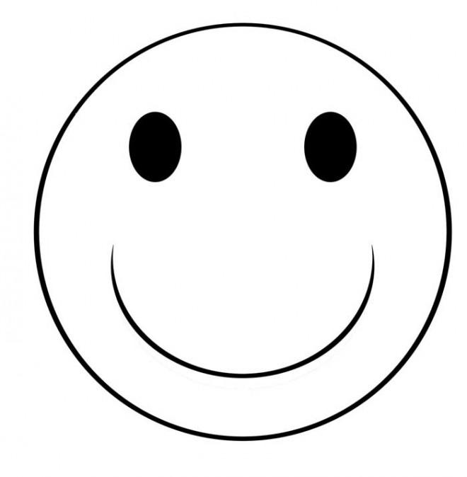 Coloriage et dessins gratuits Smiley sourire à imprimer