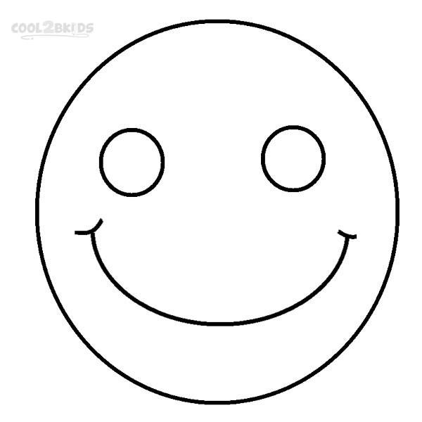 Coloriage et dessins gratuits Smiley sourit à imprimer