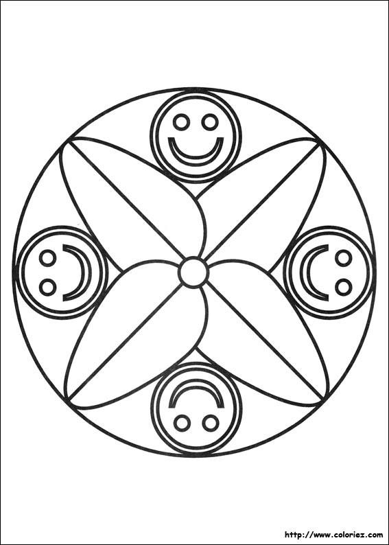 Coloriage et dessins gratuits Smiley stylisé à imprimer