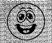 Coloriage Smiley super Cool
