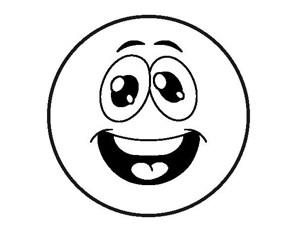 Coloriage et dessins gratuits Smiley super Cool à imprimer