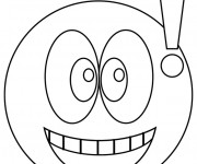 Coloriage Smiley surpris