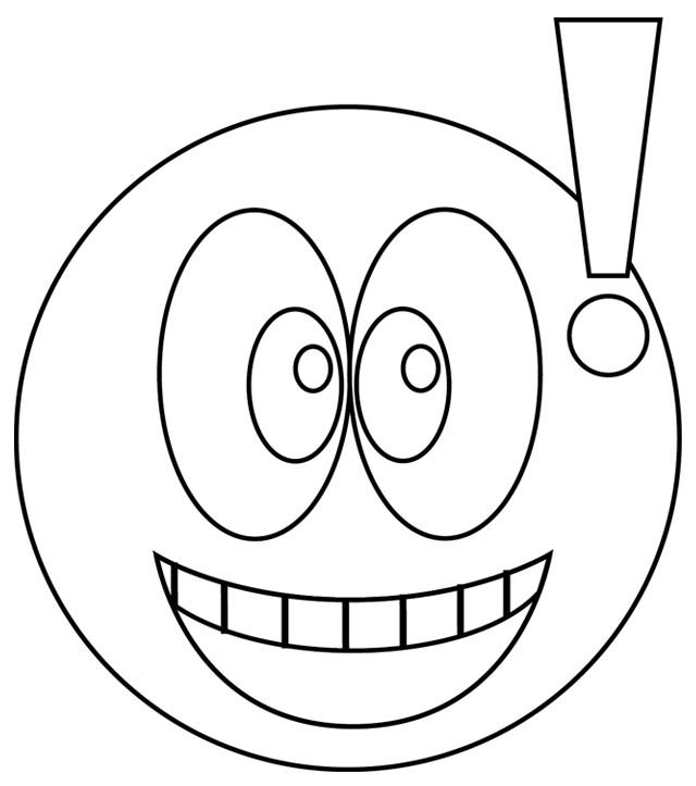 Coloriage et dessins gratuits Smiley surpris à imprimer