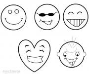 Coloriage Smileys riant