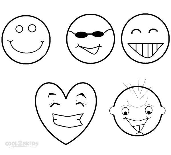 Coloriage et dessins gratuits Smileys riant à imprimer