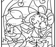 Coloriage Addition magique animaux à décorer