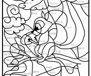 Coloriage Soustraction