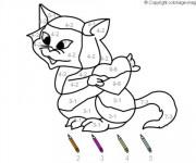 Coloriage Magique Soustraction facile