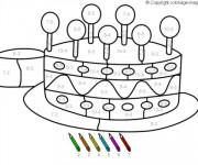 Coloriage Magique Soustraction jusqu'à Dix