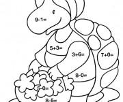 Coloriage Magique Soustraction pour enfant