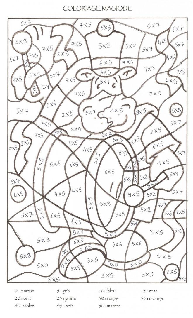 Coloriage et dessins gratuits Magiques soustraction couleur à imprimer
