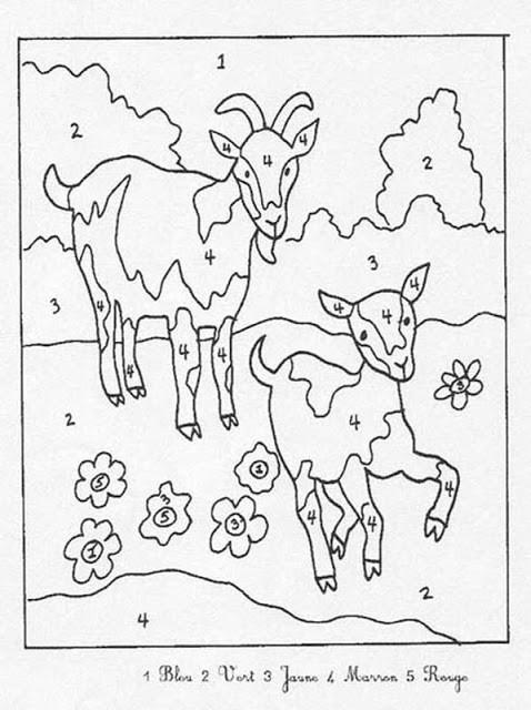 Coloriage et dessins gratuits Soustraction Chèvres à imprimer
