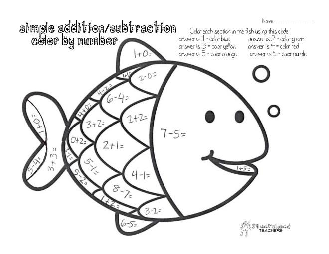Coloriage et dessins gratuits Soustraction Poisson à imprimer