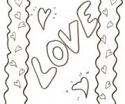 Coloriage dessin  Amour 1