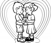 Coloriage Amour d'enfance