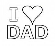 Coloriage Amour de Mon Père