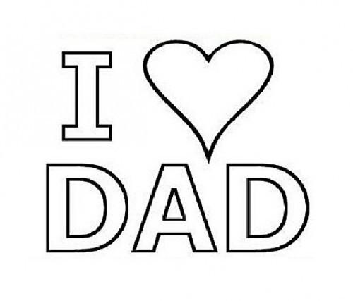 Coloriage et dessins gratuits Amour de Mon Père à imprimer