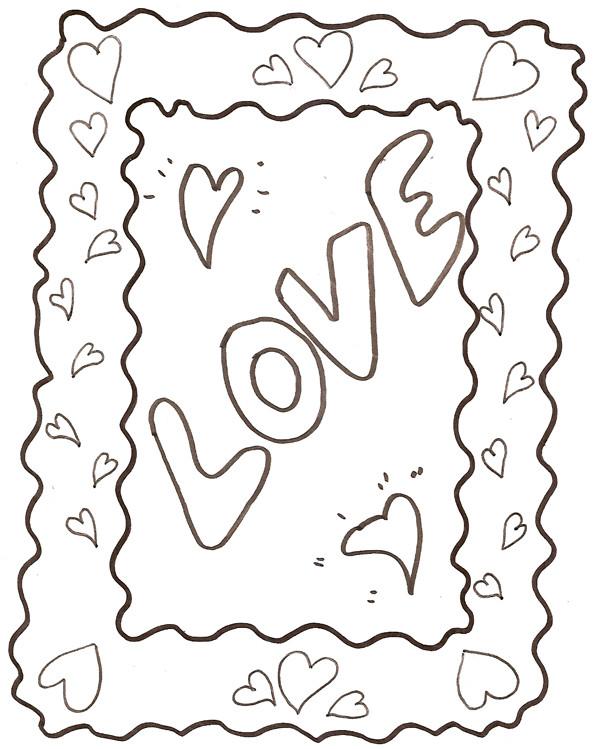 Coloriage et dessins gratuits Amour facile à imprimer