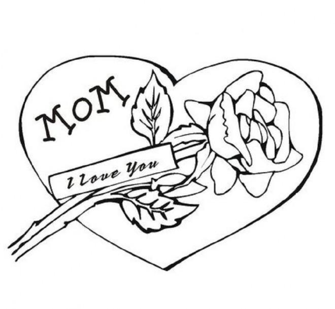 Coloriage et dessins gratuits Amour maternelle à imprimer