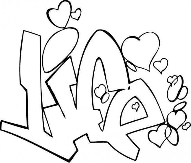 Coloriage et dessins gratuits Amour pour adulte à imprimer