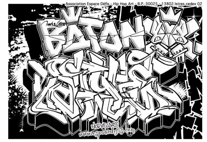 Coloriage Art Graffiti Amour Dessin Gratuit à Imprimer