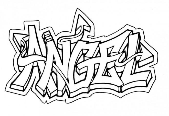 Coloriage et dessins gratuits Art Graffiti en ligne à imprimer