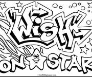 Coloriage Art Graffiti vectoriel