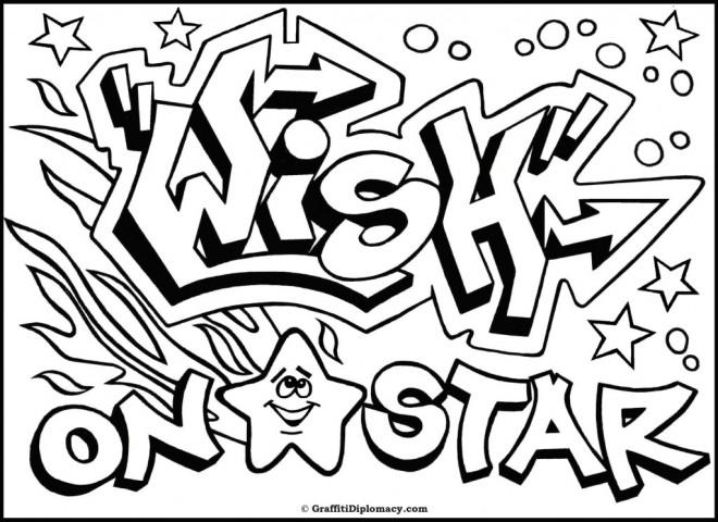 Coloriage et dessins gratuits Art Graffiti vectoriel à imprimer