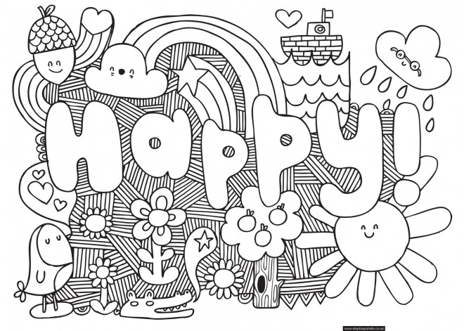Coloriage Art Tag Love Dessin Gratuit à Imprimer