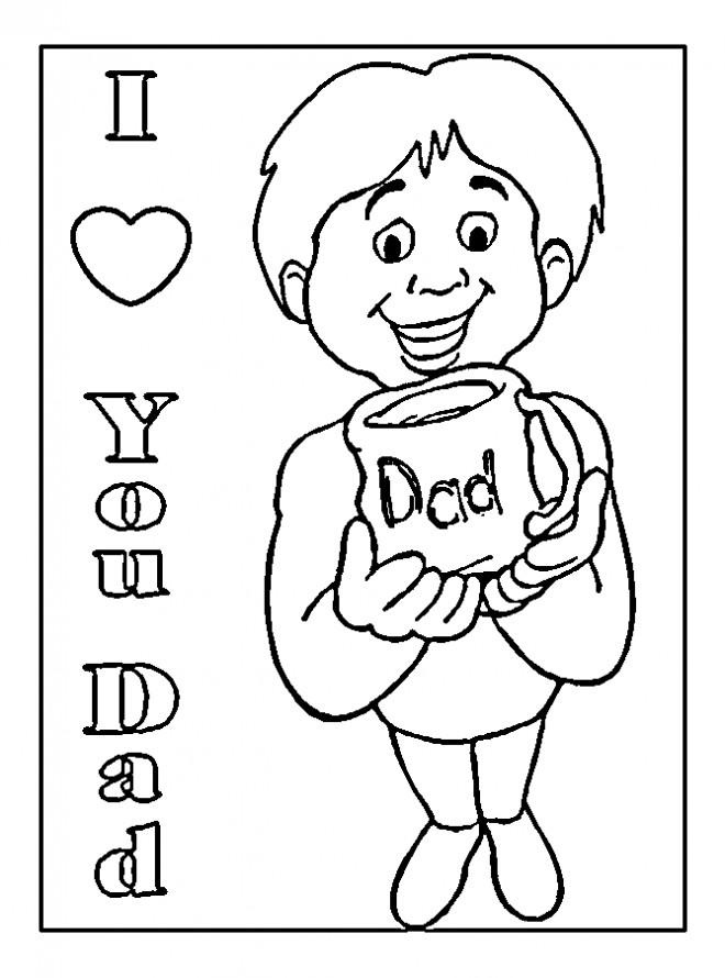 Coloriage Cadeau Pour Papa Dessin Gratuit à Imprimer