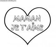 Coloriage Coeur d'amour pour Maman