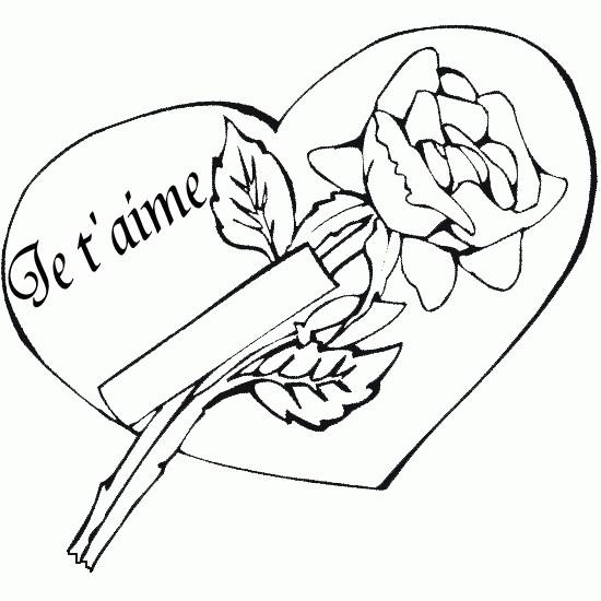 Coloriage Coeur Et Meilleur Expression D Amour Dessin
