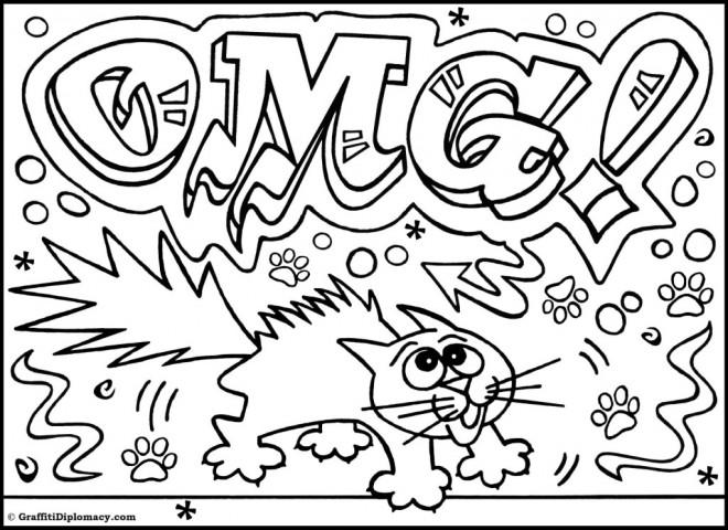 Coloriage et dessins gratuits Graffiti humouristique à imprimer
